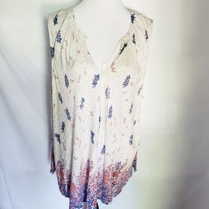 Lucky Brand PLUS 3X sleeveless layering floral top